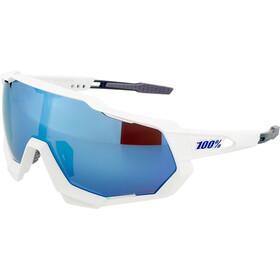 100% Speedtrap Okulary, biały/niebieski